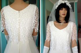 Foto 2 Romantisches Brautkleid in creme - Größe 40 –42 Neu & Sofort