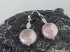 Rosa Perlen Ohrringe - sehr zart und apart - NEU