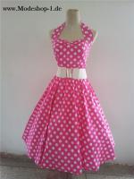 Rosa Rockabilly Vintage Kleid