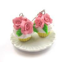 Rosen Törtchen Ohrringe