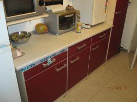 Foto 2 Rot/beige Einbauküche mit E-Geräten günstig zu verkaufen