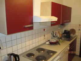 Foto 3 Rot/beige Einbauküche mit E-Geräten günstig zu verkaufen