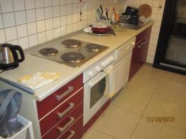 Foto 4 Rot/beige Einbauküche mit E-Geräten günstig zu verkaufen