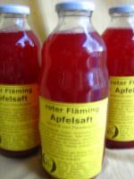 Roter Fläming Apfelsaft; naturtrüber Apfel-Holundersaft