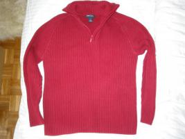 Roter Pullover mit Zipp - Troyer - Pulli! H&M