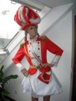 Rotes Tanzmariechen Kostüm Garde Uniform Funkenmariechen Gardekleid