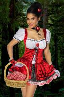 Rotkäppchen-Kostüm,4-tlg. hoch-und aufwendig verarbeitet