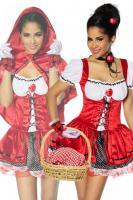 Foto 2 Rotkäppchen-Kostüm,4-tlg. hoch-und aufwendig verarbeitet