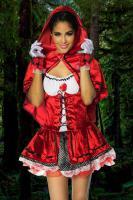 Foto 4 Rotkäppchen-Kostüm,4-tlg. hoch-und aufwendig verarbeitet