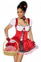 Foto 6 Rotkäppchen-Kostüm,4-tlg. hoch-und aufwendig verarbeitet