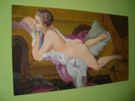 Foto 3 Ruhendes Mädchen (Gemälde)