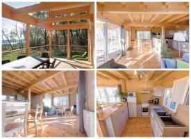 Foto 2 Ruhiges Holzhaus Natur pur ohne Nachbar, Fischteich