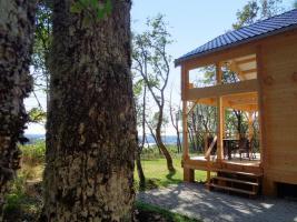 Foto 5 Ruhiges Holzhaus Natur pur ohne Nachbar, Fischteich