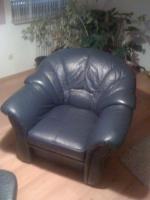 Foto 2 Rundeckcouch inkl. Sessel und Hocker - echt Leder
