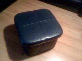 Foto 3 Rundeckcouch inkl. Sessel und Hocker - echt Leder