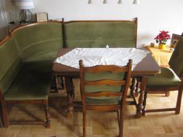 Foto 3 Rustikale Eckbank + Tisch + 2 Stühle