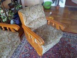 Foto 2 Rustikale Eckcoutsch mit einem Sessel