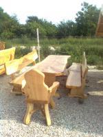 rustikale tische mit b nken aus massivholz g nstig in torgau wenge. Black Bedroom Furniture Sets. Home Design Ideas