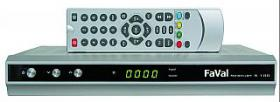 SAT-Receiver FAVAL ''Mercury S100'', silber, Software updatefähig