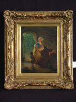 Foto 3 SELTENES GEMÄLDE VON HANS BRUNNER ca 1855