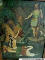 Foto 2 SELTEN .*2 alte Ölgemälde in EINEM*, auf Leinen