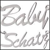 SEXY PUR Fusskette als Namenskette MAUSI HASI BABY SCHATZ