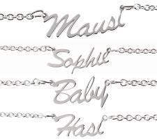 Foto 2 SEXY PUR Fusskette als Namenskette MAUSI HASI BABY SCHATZ