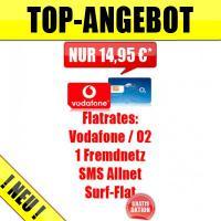 Foto 2 SIM-Karte mit 4 Flatrates D2 +Fremdnetz + SMS Allnet + Datenflat nur 14,95 monatlich