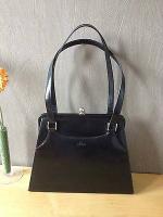 ST. OLIVER handtasche in schwarz mit knipsöffnung