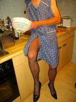 Foto 9 Sahneweiches, glänzendes Negligee mit Höschen