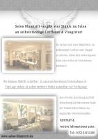 Salon Blumtritt in Krefeld bietet ab sofort 4 Stühle zur Miete an!