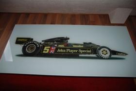 Sammlerstück! - Glastischplatte ''Lotus Formel 1''-Rennwagen