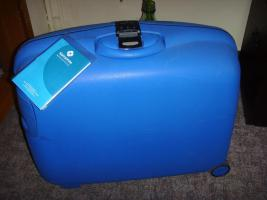 Samsonitkoffer, blau, mit Zahlenschloß