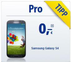 Samsung Galaxy S4 mit All-Net-Flat ab 0, - Euro