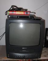 Samsung-Röhrenfernseher + VHS + Sat-Receiver