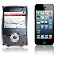 Samsung SGH-i640 + Apple iPhone 5 64GB schwarz im Tarif D1 Flat Smart +10 Duo