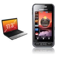 Samsung Vertrag Handy bundles Laptop HP Compaq 17,3'': Intel Dual-Core, 4 GB Ram, 320 GB HDD etc.