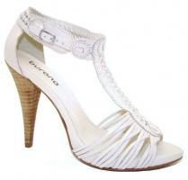 Foto 7 Sandalen High Heels aus echtem Rinds- und Wildleder, schwarz, taupe, weiß, coral