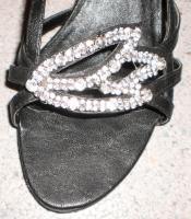 Sandalette mit Strass-Steinen