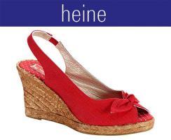 Sandalette, rot
