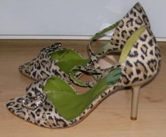 Sandaletten Leo in Velour 1x getragen