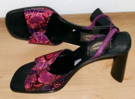 Sandaletten pink Schlangendesign neuwertig