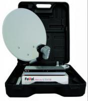Satelliten Camping-Koffer FAVAL: DVB-S Receiver, Schüssel, LNB, Kabel, Transportkoffer