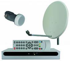 Satellitenempfangsanlage ''SES-100'', SAT-Receiver, 60cm Schüssel, Single-LNB, Zubehör