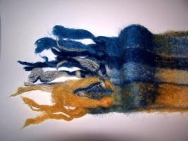 Schal aus australischer Mohairwolle