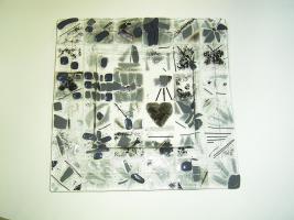 Foto 3 Schale aus Glasstücken, bzw. Scherben- Zur Erinnerung, als Abschiedsgeschenk f. Lehrer/innen