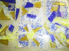 Foto 5 Schale aus Glasstücken, bzw. Scherben- Zur Erinnerung, als Abschiedsgeschenk f. Lehrer/innen