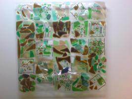 Foto 6 Schale aus Glasstücken, bzw. Scherben- Zur Erinnerung, als Abschiedsgeschenk f. Lehrer/innen