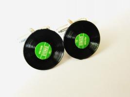 Schallplatten Manschettenknöpfe * Modeschmuck *