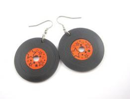 Schallplatten Ohrringe
